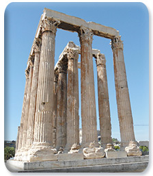 Olympian Zeus temple from 500 BC